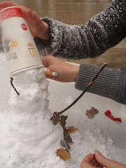 The Creation of Frosty (Ted Somerville) Tags: life winter snow cold leaves fun idea snowman friend frost snowy cigarette coat freezing frosty crotch mcdonalds help jacket cj stick chilly horny wintertime frosted lotz barehands
