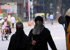 burkha clad (shreik303) Tags: india walk bangalore hijab niqab residencyroad worldwidephotowalkbangalore ssrikanth ssrikanthphotography