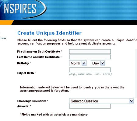 nspires registration