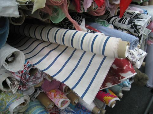 Blue Stripe at Mood Fabrics