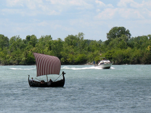 Vikings Versus Pleasure Boaters