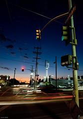 Mixed lights (Lucas Janin   www.lucas3d.com) Tags: california street city longexposure blue light sunset red sky usa cloud color car night speed iso200 losangeles nikon ciel f80 nikkor ville lightroom 10sec 26mm nikond700 lucasjanin afsnikkor2470mmf28ged