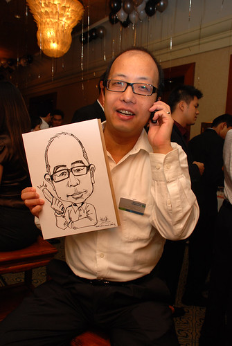 Caricature live sketching for Standard Chartered Bank Legal Learning Event 1