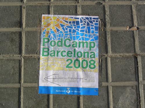 PodCamp Barcelona 2008 al carrer