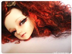 My 1# BJD faceup (Sabrina Eras) Tags: girl doll head vampire makeup elf bjd resin fairyland mnf faceup minifee sleepingelf wooso