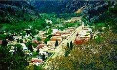 Downtown Ouray, Colorado (mountainbeliever) Tags: autumn trees mountains nature beauty forest scenery colorado colorful downtown day view vivid valley mothernature fourcorners sanjuanmountains southwestcolorado coloradomountains ouraycolorado lookingover godsworld fromuphere viewofthetown