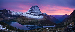 Hidden Lake Panorama (Sean Bagshaw) Tags: sunset panorama mountain lake montana sean glacier rockymountains glaciernationalpark hiddenlake naturesfinest bagshaw professionalphotographyglacierglaciernationalparkgoingtothesunhighwayhiddenlakeloganpassmontanalakemountainsunset