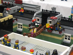 Zombie Apocafest 2008 - Bridge (Dunechaser) Tags: lego zombie events valve displays undead zombies tbb brickcon brickarms thebrothersbrick brothersbrickcom brickcon2008 brickcon08 apocafest