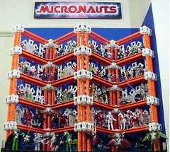 Palisades Micronauts Display (3 of 37) (Alexis Dyer) Tags: world art japan toy actionfigure japanese star robot photo starwars gun ship display action space borg alien battle system collection galaxy fantasy transformers weapon micro egyptian figure scifi sarcophagus customized warrior rocket sciencefiction cyborg tron outerspace universe ultra takara android futuristic diorama tomy mecha droid bot palisades robo defender mego galactic micronauts robotech robotic micronaut microman microverse micropolis  pharoid interchangeables themicronauts  assembleborg henshincybrog