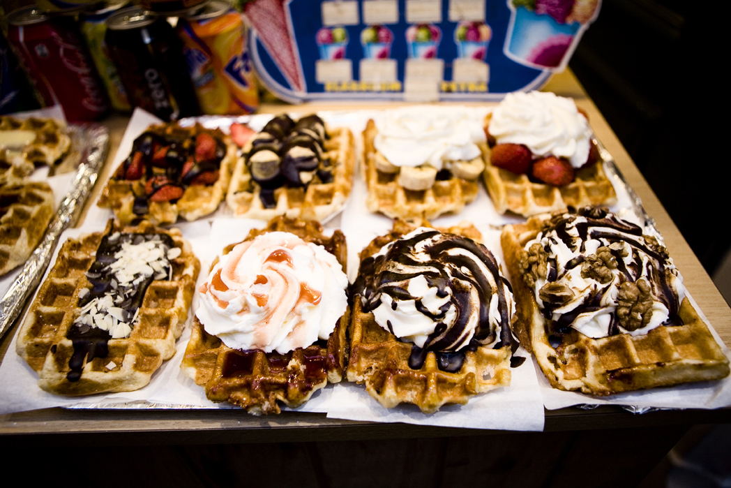 Belgian Waffles at Brussels, Belgium