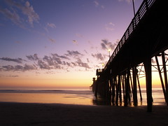 Iconic Oceanside Pier (Bryce Bradford) Tags: ocean california sunset west fall beach water colors clouds reflections atardecer pier sand october san pacific diego oceanside tropical sillhouettes atumn