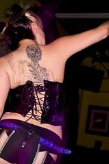 Necrophilia's tattoo (Morven) Tags: california people industrial unitedstates unitedstatesofamerica gothic goth location nightclub orangecounty gardengrove ebm xile minoltaaf28100mmf3556d