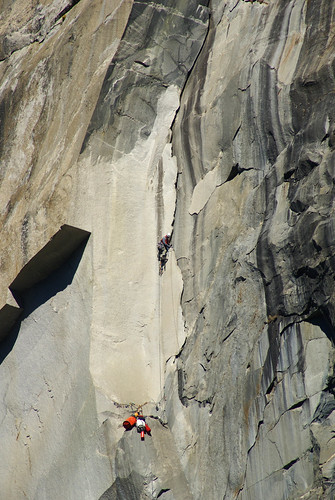Leading the scary thin flake on P14.