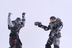 Gears of War (Jemlnlx) Tags: xbox360 macro canon lens eos war marcus statues xbox sniper fenix locust 60mm product gears figures efs f28 neca gearsofwar 40d