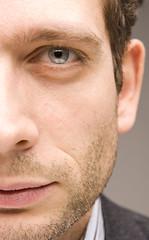 Fosco close-up eye (manuel ek) Tags: light portrait bw man male guy look closeup shirt studio beard photo model nikon foto flash human suite modell kndis reklam mustasch hansom portrtt fosco svartvitt 2470 skgg skjorta modellfoto d2xs kavaj skdespelare studioljus