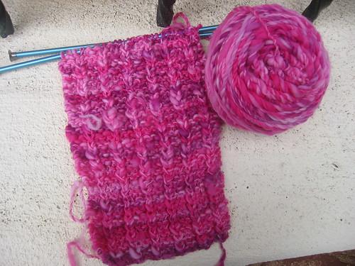 Pink Handspun Scarf