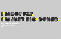Big Boned Rounded Typeface (_Untitled-1) Tags: black typography design big graphic polka font osaka network dots rounded bold typeface typographic boned