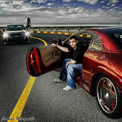 The NEED ! (Jamal Alayoubi) Tags: street red car sport japan dave race drag eclipse nikon hill racing kuwait nikkor d3 jamal 2470 strobist  enfiniti metsubishi alayoubi