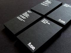 Fuse Business Cards (Fuse Design) Tags: black print logo graphicdesign media newmedia businesscards card fuse colorplan gfsmith designagency foilblocking graphicdesignersnottingham graphicdesignersinnottingham