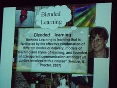 Blended learning definition (Heinze and Procto...