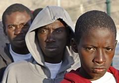Inmigrantes llegados en cayuco