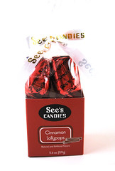 See's Cinnamon Lollypops Box