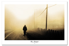 Stranger (Imapix) Tags: autumn mist canada man art fall nature fog sepia automne canon fence photography ph