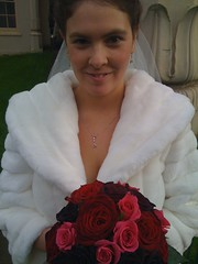 my new wife (lomokev) Tags: flowers wedding england love sarah bride brighton unitedkingdom wife iphone sarahp rockcakes rockcake flickr:user=rockcake flickr:nsid=52261030n00 airme rockcakelomokevwedding