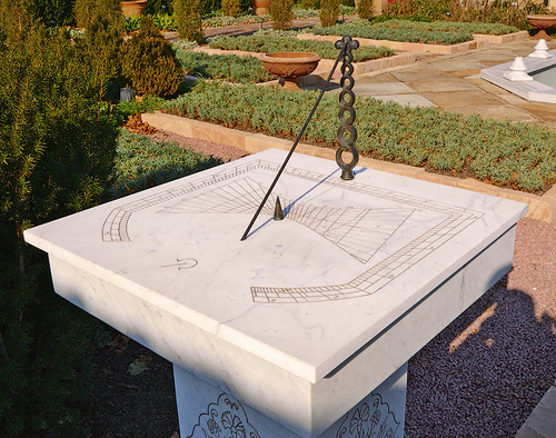 "Missouri Botanical (""Shaw's"") Garden, in Saint Louis, Missouri, USA - sundial in Ottoman Garden"
