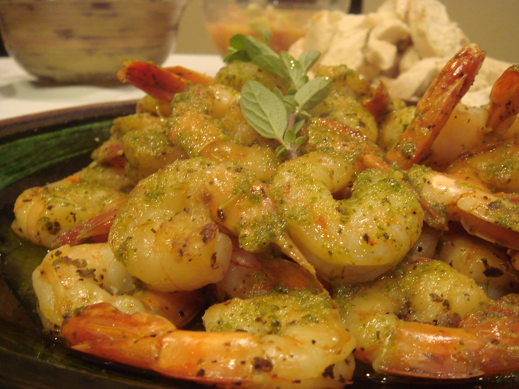 Latin Themed Dinner- Shrimp with Chimichurri sauce