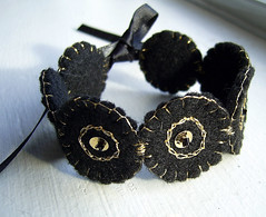black felted bracelet