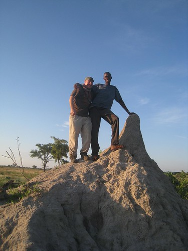 On the termite mound with Broc