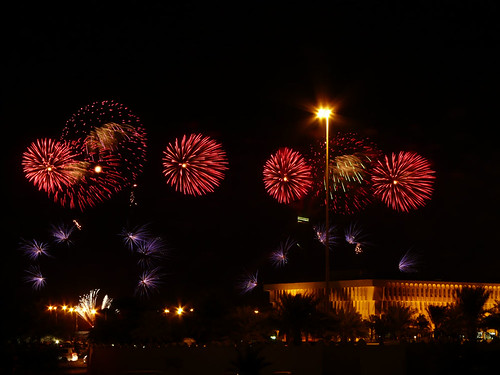 Fireworks light up the night during National Day celebrations