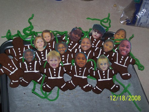 My class as gingerbread cookies