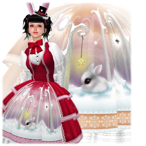 katat0nik Snow Bunny Dress
