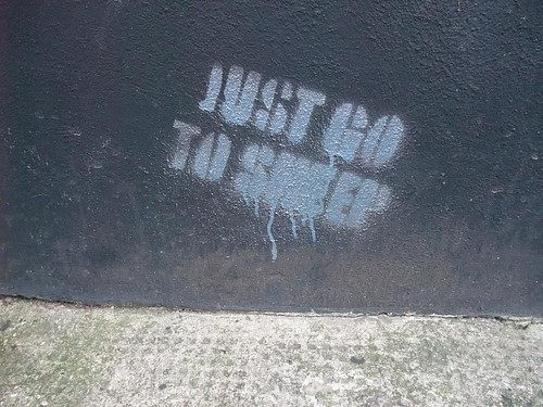 london street art: just go to sleep