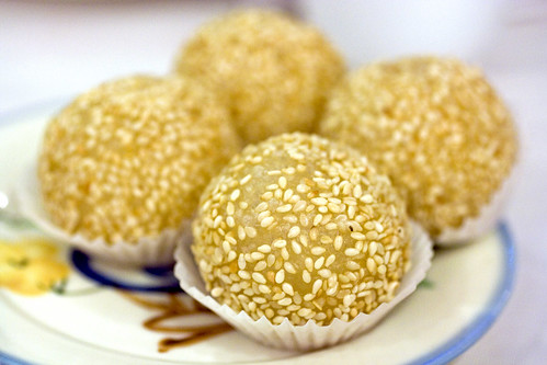 Mini fried sesame balls