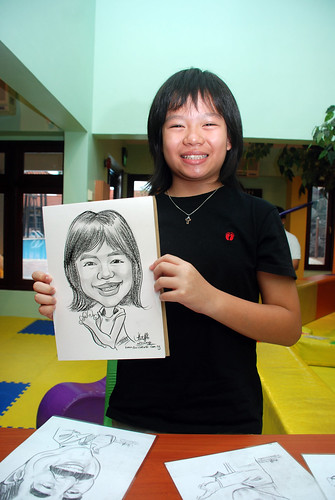 Caricature live sketching for Aloha Mini Carnival 2008 5