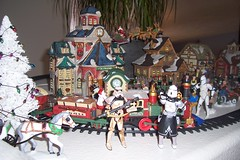 stormtroopers take over christmas village