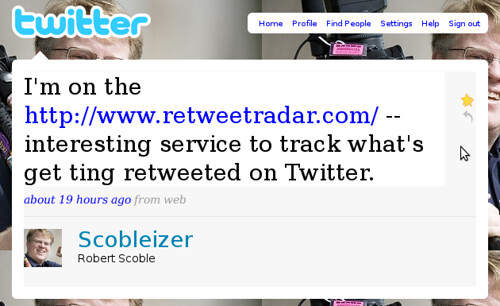 Twitter tweet from scobleizer