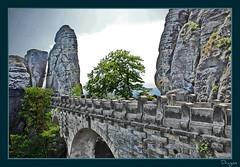 The Bastei bridge in Saxon Switzerland (Dragos Cosmin- Getty Images Artist) Tags: bridge germany switzerland dresden nikon rocks saxon bastei cosmin dresda dragos saxonswitzerland gemania d80 olariu