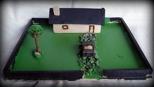 Lite hus med hage