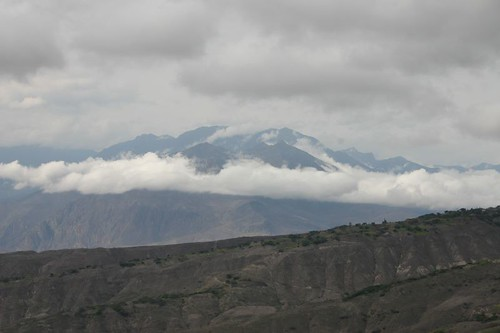 Morning clouds over the Andes...