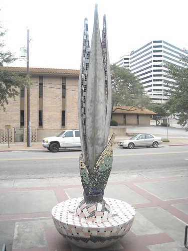 Sculpture outside public library