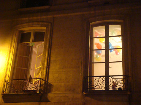 Paris balloons window birthday party
