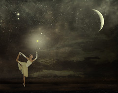 Midnight Dancing (Dobka) Tags: life sky ballet woman moon girl beauty night stars star photo dance women flickr dancing photos dancer explore midnight lucia danceuse balletdancer visualconcept goldstaraward galovicova luciagalovicova