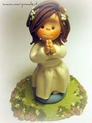First Holy Communion cake topper - LAURA (marytempesta) Tags: