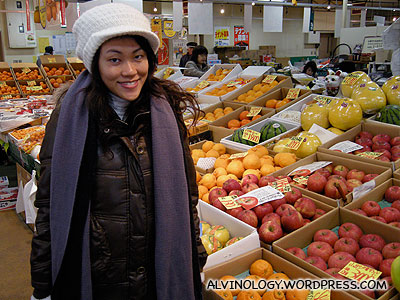 At the fruits and vegetable market