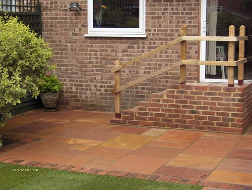 Indian Sandstone Patio and Lawn Image 24