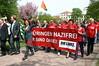Probesitzen am Thüringer Landtag gegen Nazi-Aufmarsch am 1.Mai